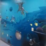 ocean mural for pediatrics office