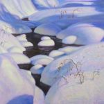 snow covered stream painting by North Carolina artist, Jeremy Sams