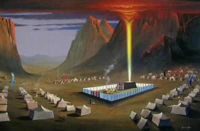 Wilderness Tabernacle painting – Jeremy Sams Art