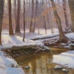 snow creek plein air
