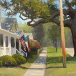 Caswell Street plein air painting in Southport NC by North Carolina artist Jeremy Sams