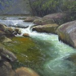 Cane River plein air painting by North Carolina artist Jeremy Sams