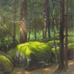 plein air painting of red spruce forest on Roan Mountain by North Carolina artist Jeremy Sams