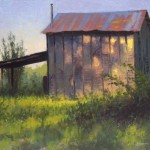 Glenola Tobcco Barn 8x10 acrylic