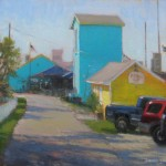 Southport plein air painting by North carolina artist Jeremy Sams