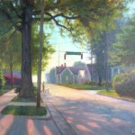 morning plein air painting in Cary NC by North Carolina artist Jeremy Sams