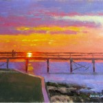 Southport sunrise plein air painting