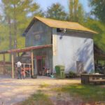 plein air painting of Holland fruit stand Fuquay Varina by North Carolina artist Jeremy Sams