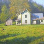 plein air painting of homestead in Ashe County by North Carolina artist Jeremy Sams