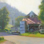 Vaughan's Mill plein air painting in Virginia