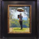 Plein air painting of Paul Keysar by North Carolina artist Jeremy Sams