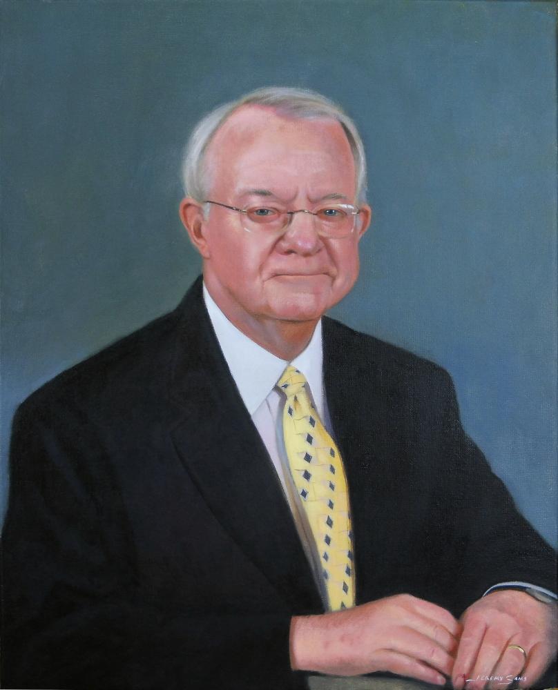 Rex Pollard painted portrait